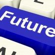 Stock Photo: Future Key Showing Prediction Forecasting Or Prophecy