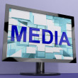 MediWord On Monitor Showing Internet OrTelevision Broadcasting — Stock Photo #10447360