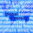 Global Diversity Words Showing Diverse Ethnic Worldwide — Stock Photo