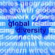 Global Diversity Words Showing Diverse Ethnic Worldwide - Stock Photo