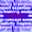 Motivation Word Showing Positive Encouragement And Determination — Stock Photo