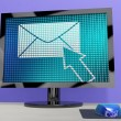 Stock Photo: Email Icon On Screen Showing Emailing Or Contacting