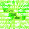 Save The Planet Words In Green Showing Recycling And Eco Friendl — Stock Photo