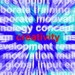 Creativity Word Representing Innovative Ideas And Imagination — Stock Photo #10447737