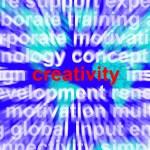 Creativity Word Representing Innovative Ideas And Imagination — Stock Photo