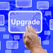 Upgrade Button Showing Software Updates To Fix Applications — Stock Photo