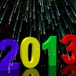 2013 With Fireworks Representing Year Two Thousand And Thirteen — Stock Photo