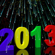 2013 With Fireworks Representing Year Two Thousand And Thirteen — Stock Photo #10448131