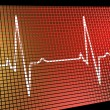 Stock Photo: Heart Rate Monitor Showing Cardiac And Coronary Health