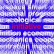 Stock Photo: Initiative Word Meaning Leadership Inventiveness And Being Proac