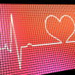 Stock Photo: Heart Rate Display Monitor Showing Cardiac And Coronary Health