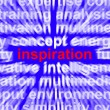 Stock Photo: Inspiration Word Zooming Showing Positive Thinking And Encourage