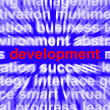Development Word Shows Improvement Advancement And Growth — Zdjęcie stockowe