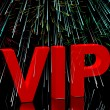 Stock Photo: VIP Word With Fireworks Showing Celebrity Or Millionaire Party
