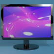 Stock Photo: TV Monitor On Stand Representing High Definition Television Or H