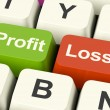 Profit Or Loss Keys Showing Returns For Internet Business — Stock Photo #10448767