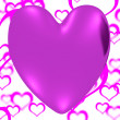 Постер, плакат: Mauve Heart On A Herats Background Showing Love Romance And Vale