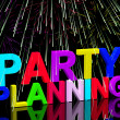Party Planning Words Showing Birthday Or Anniversary Celebration — Stock Photo #10448819