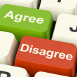 Stock Photo: Disagree And Agree Keys For Online Poll Or Voting