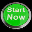 Start Now Button Meaning To Commence Immediately — Foto Stock #10449339