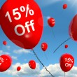 Balloon Showing Sale Discount Of Fifteen Percent — Stock Photo #10449484
