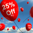 Balloon Showing Sale Discount Of Twenty Five Percen — Stock Photo
