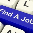 Find A Job Computer Key Showing Work And Careers Search Online — Stock Photo #10449520