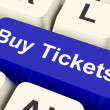 Stock Photo: Buy Tickets Computer Key Showing Concert Or Festival Admission P