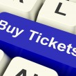 Buy Tickets Computer Key Showing Concert Or Festival Admission P — Stock Photo