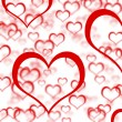 Red Hearts Background Showing Romance Love And Valentines — Stock Photo #10449988