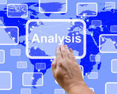 Analysis Button Pressed For Checking And Examining — Stock Photo