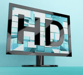 HD Monitor Representing High Definition Television Or TV — Stock Photo