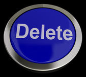 Delete Button In Blue To Erase Trash — Stock Photo