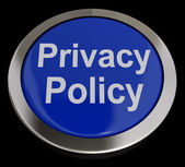 Privacy Policy Button In Blue Showing Company Data Protection Te — Stock Photo