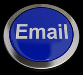 Email Button In Blue For Emailing Or Contacting — Stock Photo