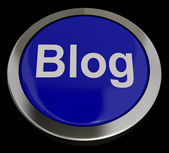 Blog Button In Blue For Blogger Or Blogging Website — Stock Photo