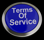 Terms Of Service Computer Button In Blue Showing Website Agreeme — Stock Photo
