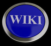 Wiki Button For Online Information Or Encyclopedia — Stock Photo