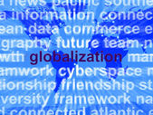 Globalization Word On Map Showing International Business — Stock Photo