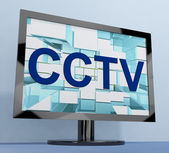 CCTV Monitor For Security Surveillance To Prevent Crime — Stock Photo
