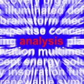 Analysis Word Showing Checking Probing And Examining — Stock Photo