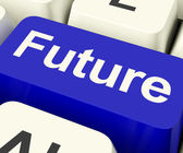 显示预测预测的未来关键或预言 — 图库照片