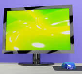 TV Monitor Representing High Definition Television Or HDTV — Stock Photo