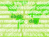 Earth Day Words Showing Environmental Concern And Conservation — Stock Photo