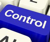 Chave de controle computador mostrando o controlador remoto ou interface — Foto Stock