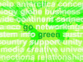 Go Green Words Showing Recycling And Eco Friendly — Stock Photo