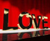 Love Word Showing Heart And Romance For Valentines Or Love Actin — Stock Photo