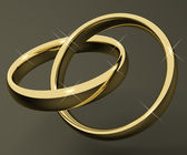 Gold Rings Representing Love Valentines And Romance — Stock Photo