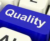 Calidad clave que representa excelente servicio o productos — Foto de Stock