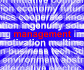 Management Word Showing Business Leadership Logistics And Organi — Stock Photo